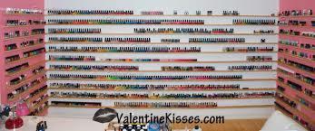 valentine kisses my nail polish shelves u0026 collection plus some