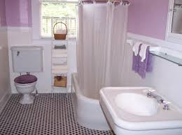 Plain Bathrooms Fancy Small Bathroom With White Plain Shower Curtain Above White