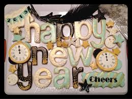 New Year S Cookie Decorations by 117 Best New Years Cookies Images On Pinterest Decorated Cookies