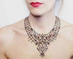 leather necklace design images French designer madame p creates jewelry from vegan leather favriver jpg