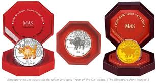 new year coin singapore launches lunar ox coins for new year coin news