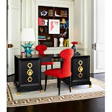 Excutive Desk Turner Executive Black Desk Modern Furniture Jonathan Adler
