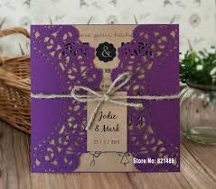 Wedding Invitation Cards China Online Buy Wholesale Purple Invitation Cards From China Purple