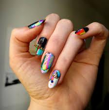 fashion nail art glitch nail wraps appliq ladycrappo u2022