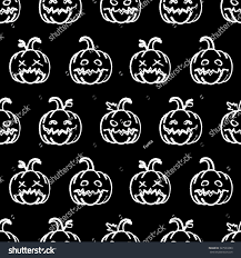 halloween greeting cards vector seamless pattern pumpkins halloween background stock vector
