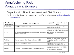 manufacturing risk assessment template risk management plans 15 manufacturing risk management project