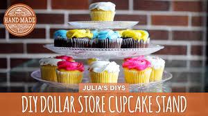 diy cupcake stand dollar store challenge hgtv handmade youtube