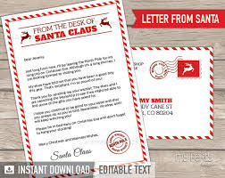 santa claus letters letter from santa kit with envelope template christmas