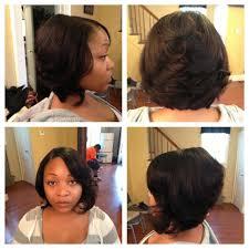 short bob quick weave hairstyles short classy mushroom quickweave