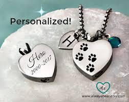 pet ash jewelry pet ashes necklace etsy