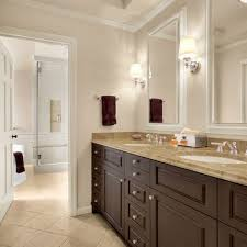 what color goes with brown bathroom cabinets bath softer brown cabinets design ideas pictures