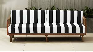 Outdoor Sofa Bed Tropez Black And White Stripe Outdoor Sofa In Outdoor Furniture