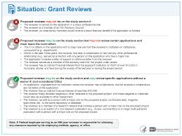 managing conflict of interest in nih peer review of grants and