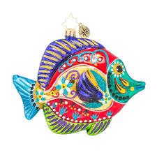 christopher radko ornaments fish with a flourish animal ornament