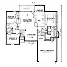 plan42 traditional style house plan 3 beds 2 00 baths 1573 sq ft plan