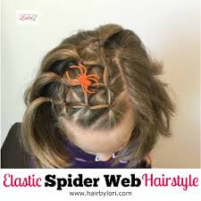 elastic spider web hairstyle crazy spider webs and short