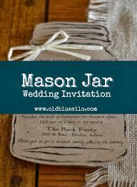 jar invitations blue silo jar monday our wedding invitation