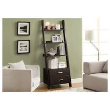 White Ladder Bookcase With Drawers by Amazon Com Monarch Bookcase Ladder With 2 Storage Drawers 69