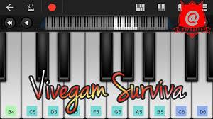 vivegam surviva song teaser keyboard notes youtube
