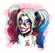 harley quinn squad colored sketch by kfcomics on