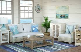 beach living room with white wicker sofa catalog bliss beach