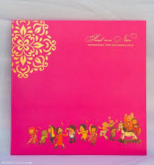 indian wedding invitation cards online card design ideas pink gradation color yellow circular plant