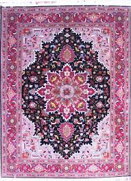 Black And Pink Rugs Hand Knotted Black Rug Black Rug