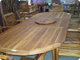 Expandable Patio Table Tables Teak Oval Expandable Outdoor Dining Table South Seas