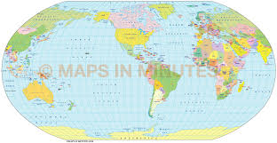 Map Projection Robinson Projection 100m Scale Us Centric World Map Small World