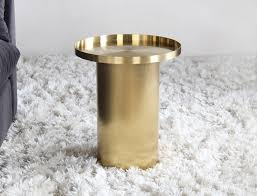 gold drum coffee table gold drum end table