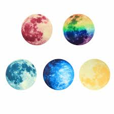 compare prices on luminous moonlight sticker online shopping buy w creative kid s room wall sticker 5 patterns 30cm luminous moon earth planet wall stickers decal