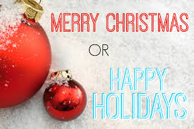 do you say merry or happy holidays poll