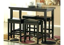 bar style table and chairs cool bar stool and table sets studio brown wood collapsible pub