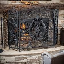 Fireplace Chain Screens - christopher knight home wilmington fireplace screen free