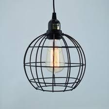 sphere shaped vintage edison light bulb cage for pendant lights on