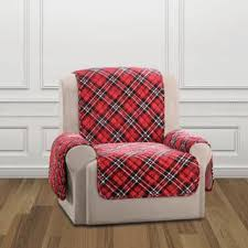 plaid chair covers u0026 slipcovers for less overstock com
