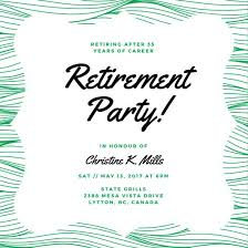 words for retirement cards customize 35 retirement party invitation templates online canva