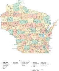 State Of Wisconsin Map by Wisconsin County Map With Cities Wisconsin Map