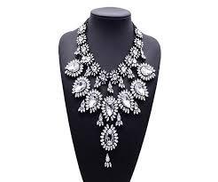 crystal diamond necklace images Crystal diamond necklace srb style statement jpg