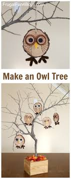 how to make adorable wood slice owl ornaments and an owl tree