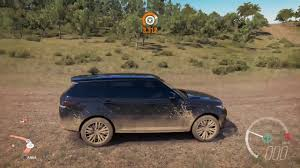 modified land rover modified range rover sport svr goes off road fh3 youtube