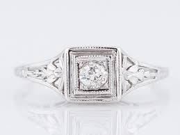 antique engagement ring belais bro art deco 11 old european cut