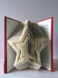 book folding finished book double star christmas decoration best