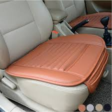 car chair covers universal seat pad pu leather bamboo charcoal car cushions car