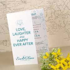 happy ever after wedding invitation by love wedding print