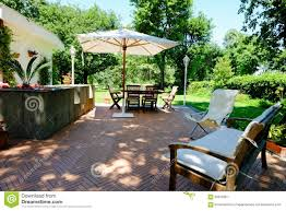 Italian Backyards by Patio Garden Furniture Stock Image Image Of Lifestyle 65616351