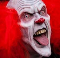 Scary Costumes Halloween Midnight Carnival Evil Clown Jester Jack Box Creepy