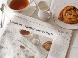 Newspaper Meme Generator - local newspaper covers itself morning news know your meme