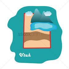 Utah State Map Utah State Map With Great Salt Lake Vector Image 1592102