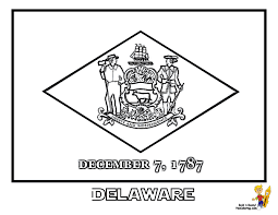 Maine State Flag Delaware State Flag Coloring Page